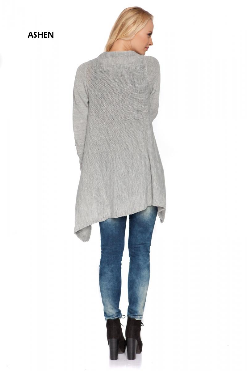 Womens Long Thick Blazer With Asymmetric Zip Cardigan Sweater ...