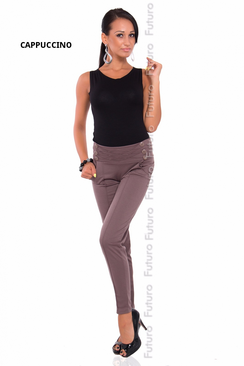 taille haute pantalon extensible chino femmes filles ru 8 18 fa10 ebay. Black Bedroom Furniture Sets. Home Design Ideas