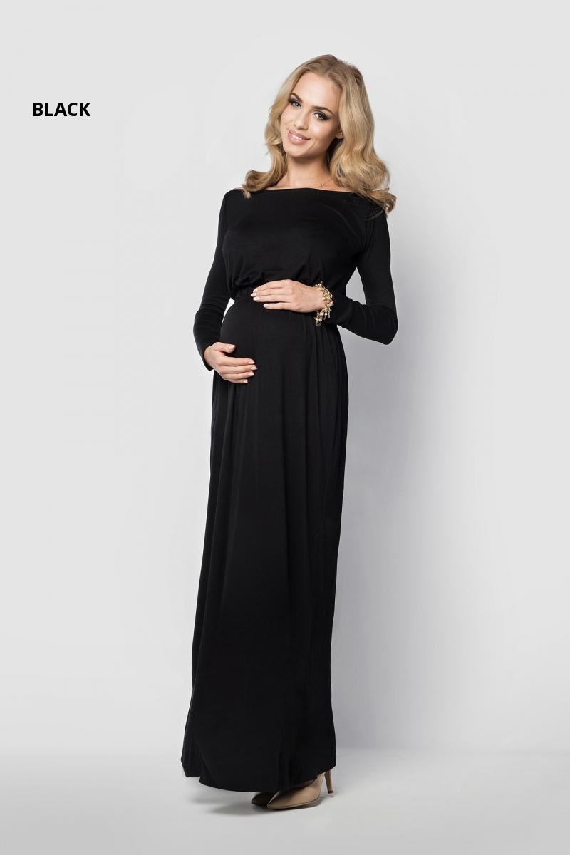 damen schwangerschaft abend maxi lang rmliges kleid u boot. Black Bedroom Furniture Sets. Home Design Ideas