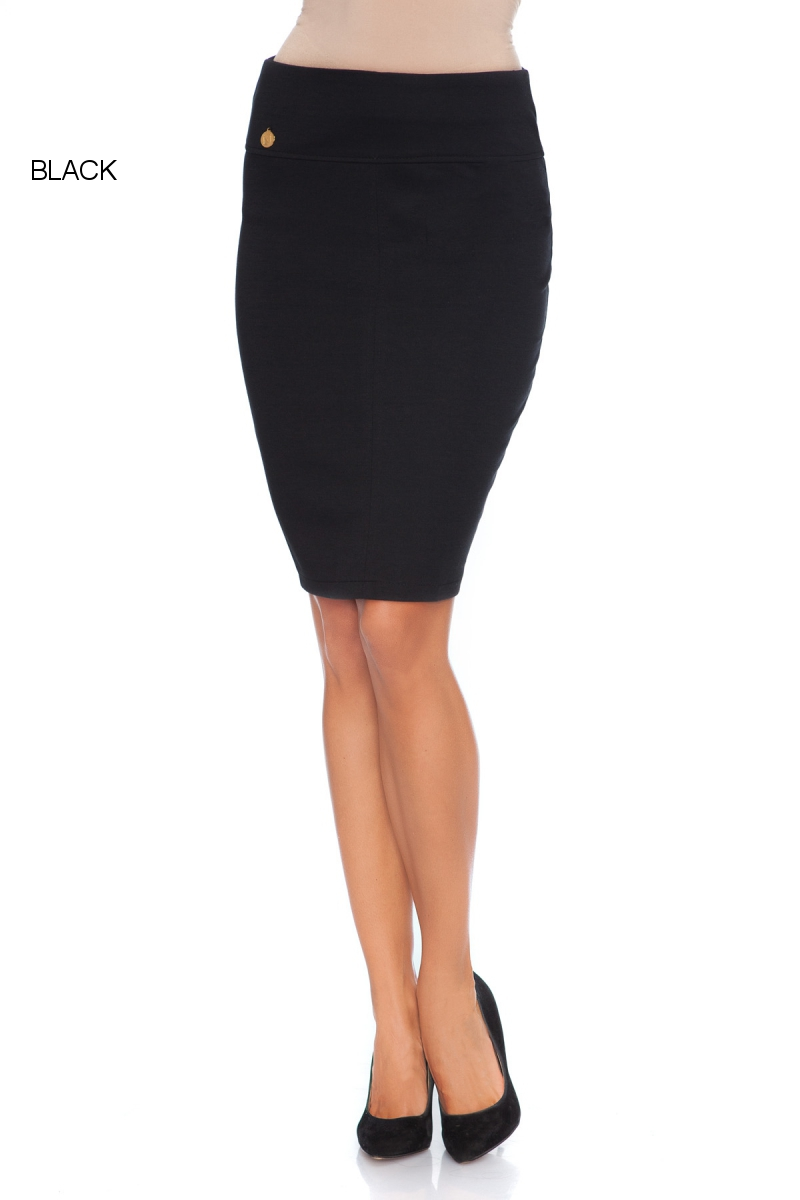 womens classic pencil skirt with zipper office formal