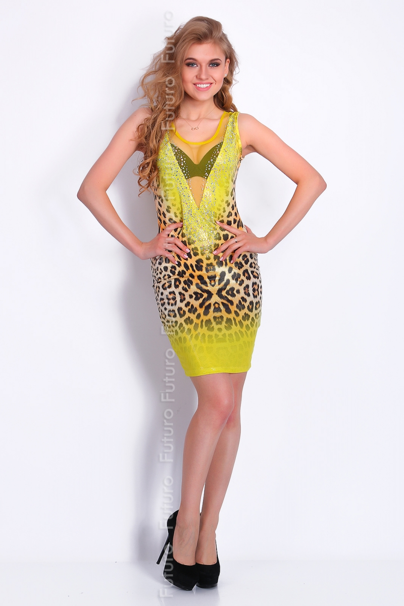 Party Sequined Bodycon Mesh Neckline Sleeveless Clubwear ...
