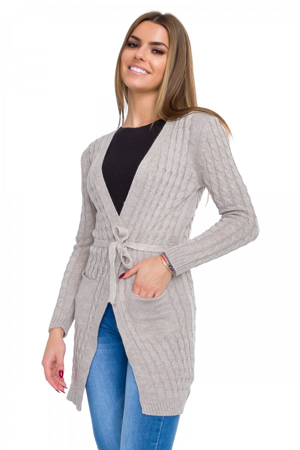 Women's Knit Cardigan with Belt &...