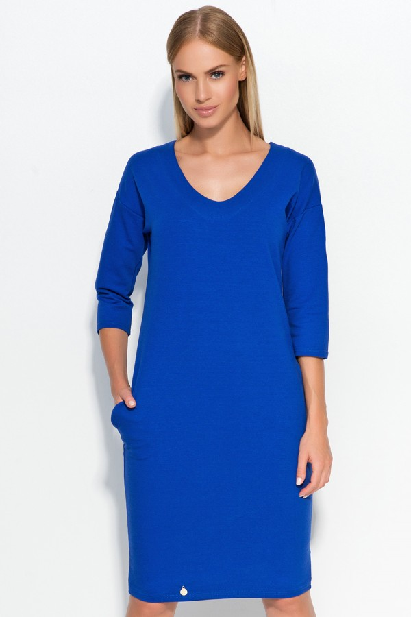 Office Casual Scoop Neck Dress • FA518