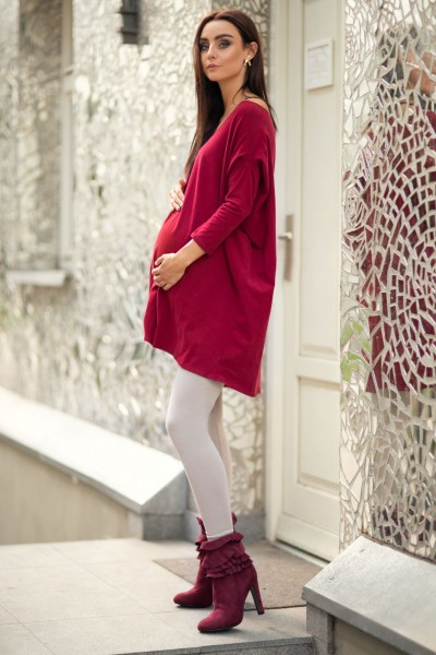 Warm maternity leggings