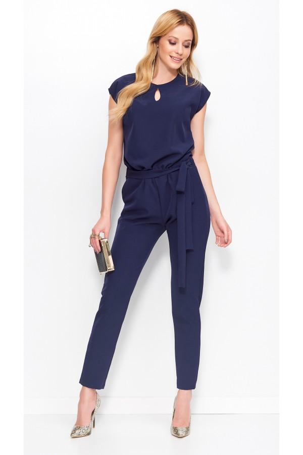 Women's Modern Jumpsuit Tie-waist •...