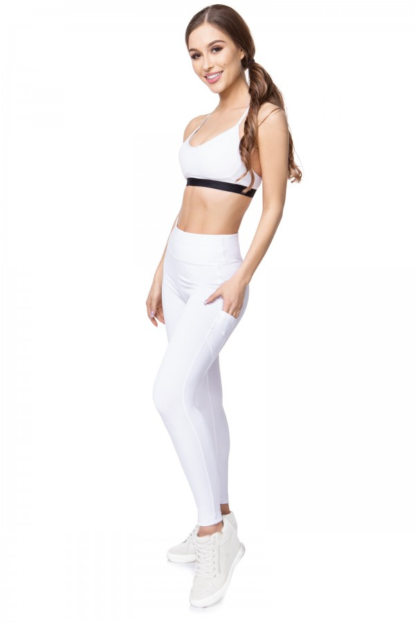 High Waist Sport Leggings with Media...