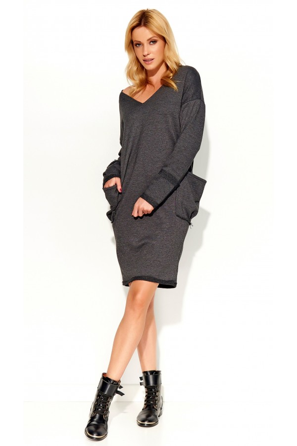 Cotton Jumper Dress With Pockets • FA571