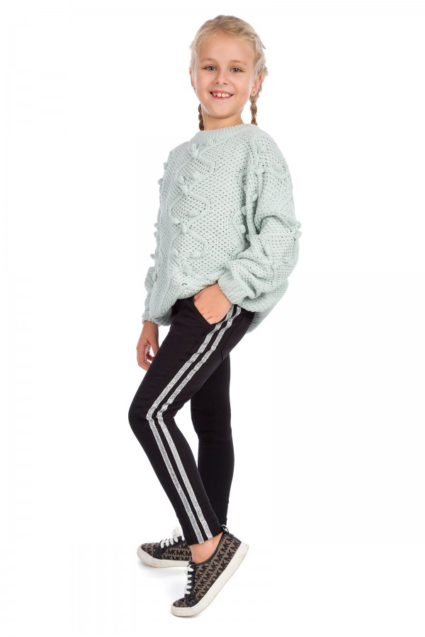 Girl's Warm Sports Leggings with...