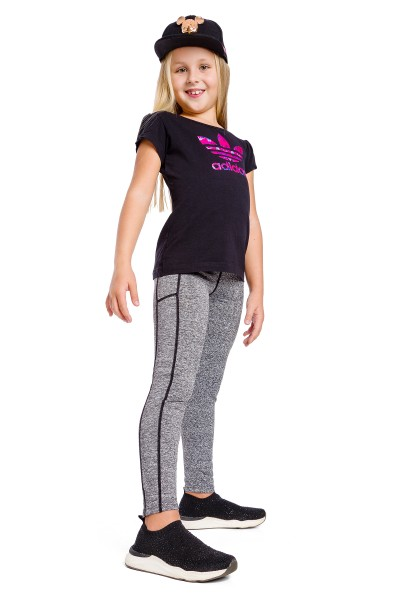 Girls Sports Solid Leggings...