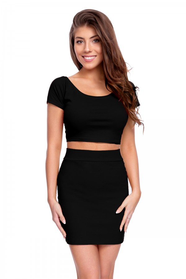 SET • Crop Top + Mini Skirt • FZ134