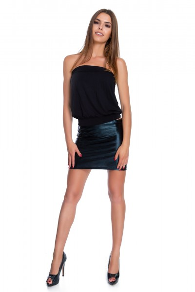 Shiny Mini Skirt Metallic...