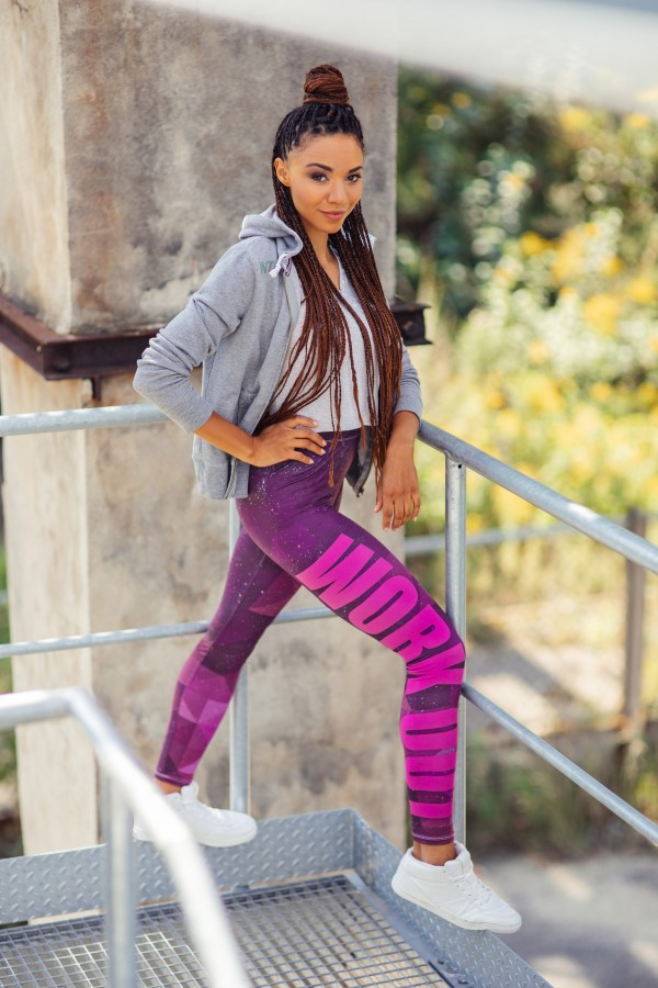 Sport leggings Work Out Triangle Galaxy
