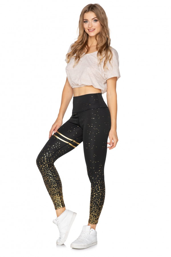 Womens High Waisted Solid Sports...