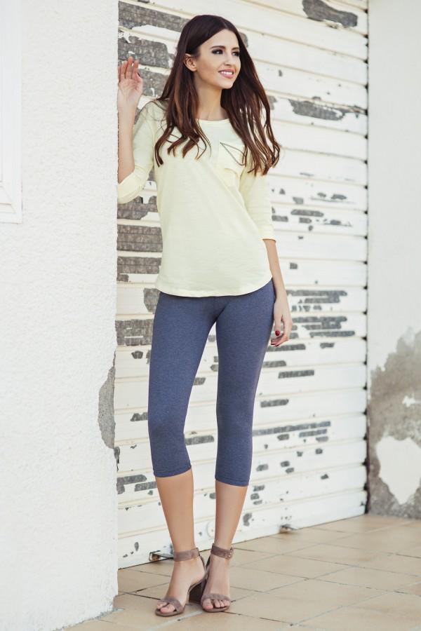 Ladies Casual 3/4 Leggings cotton •...