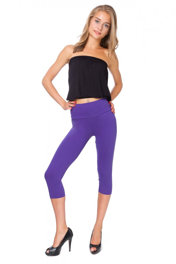 Ladies Casual 3/4 Leggings cotton •...