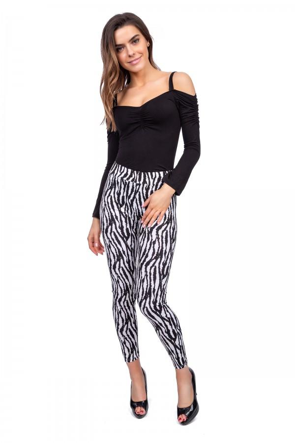 Women Leggings Zebra Pattern • FS393
