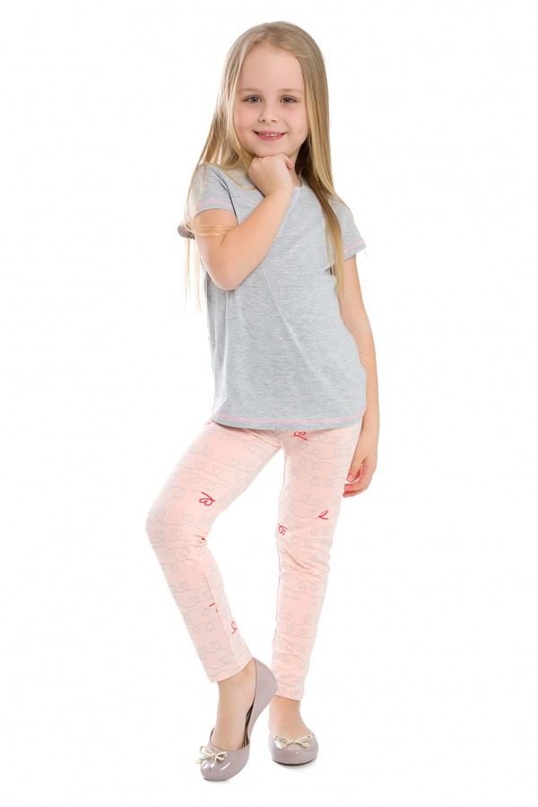 Girl's Bamboo Fabric Printed Leggings...