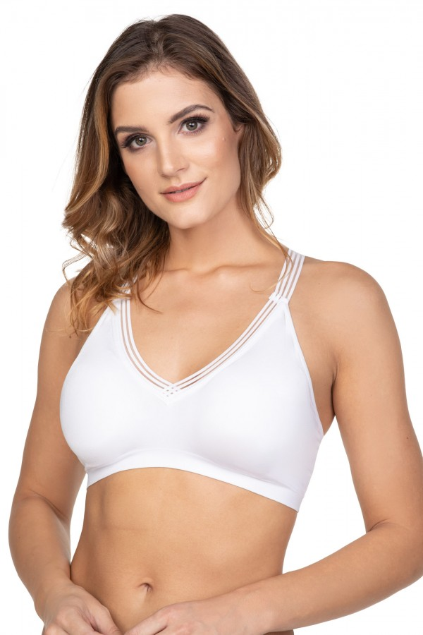 Women's V sports bra decorated with...
