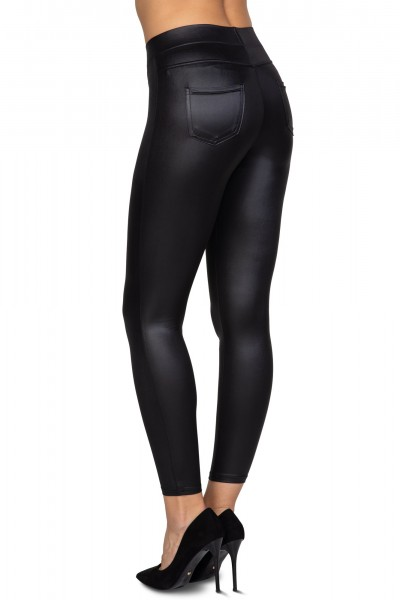 Latex pants with pockets