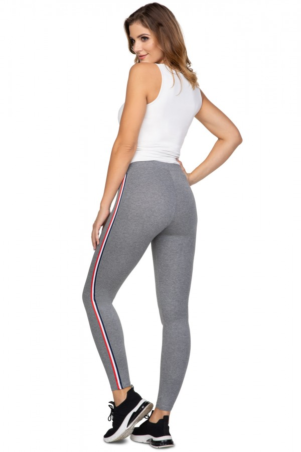 Women's casual leggings with stripes...