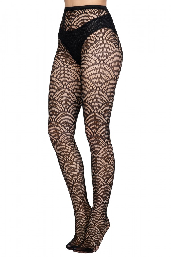 Womens Fishnet Knitted Patterned...
