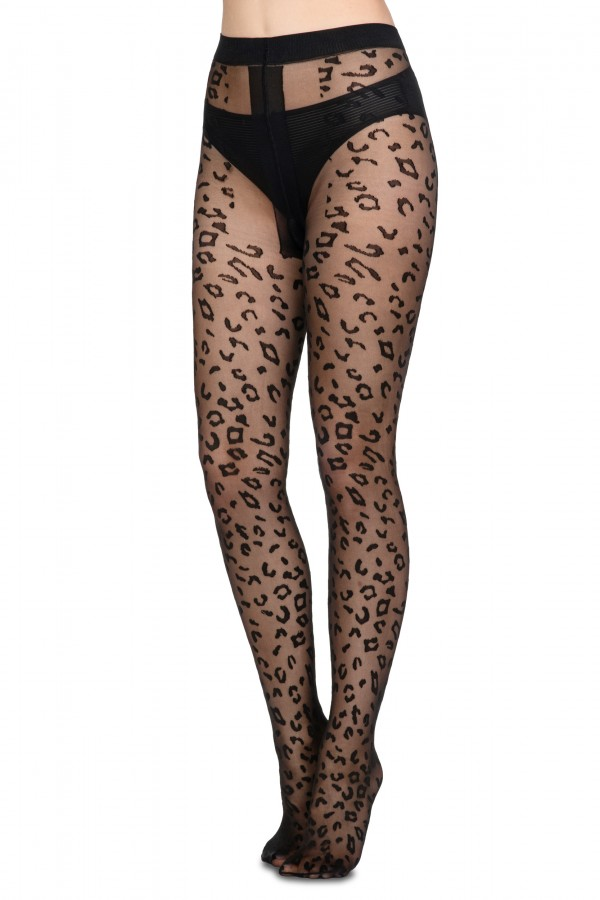 Ladies Panther patterned Tights • AA009