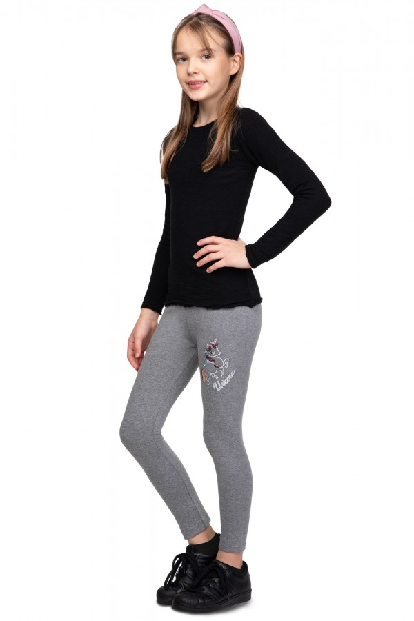 Girl's Cotton Leggings Unicorn...