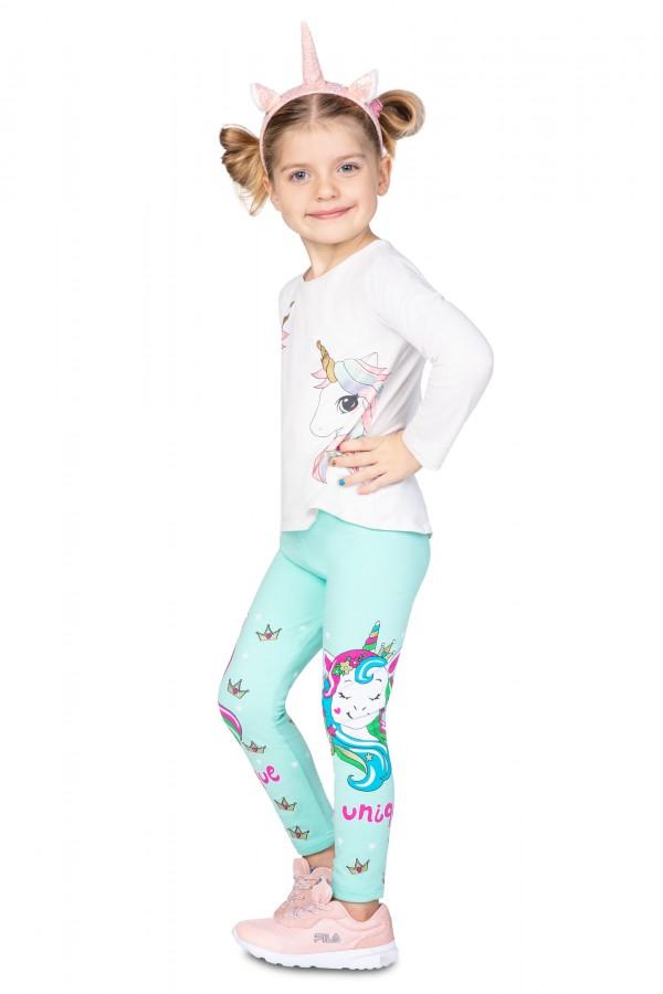 Girl's Cotton Leggings UNICORN • FR1019