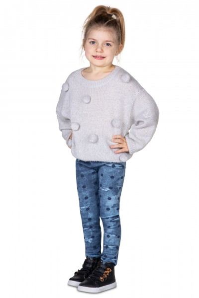 Kids Denim Cotton Leggings...