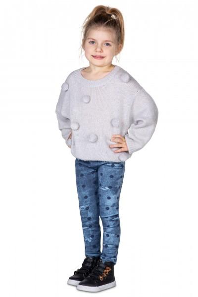 Dziecięce jeansowe legginsy...