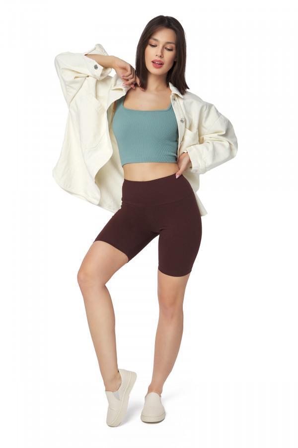 Cotton Leggings 1/2 Length Over-Knee...