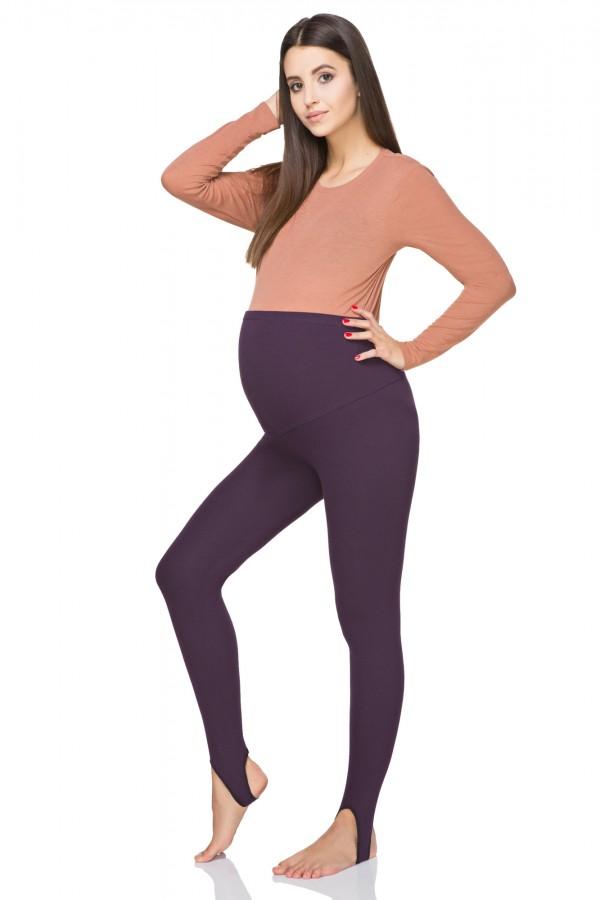 Ocieplane legginsy ciążowe z zapiętką