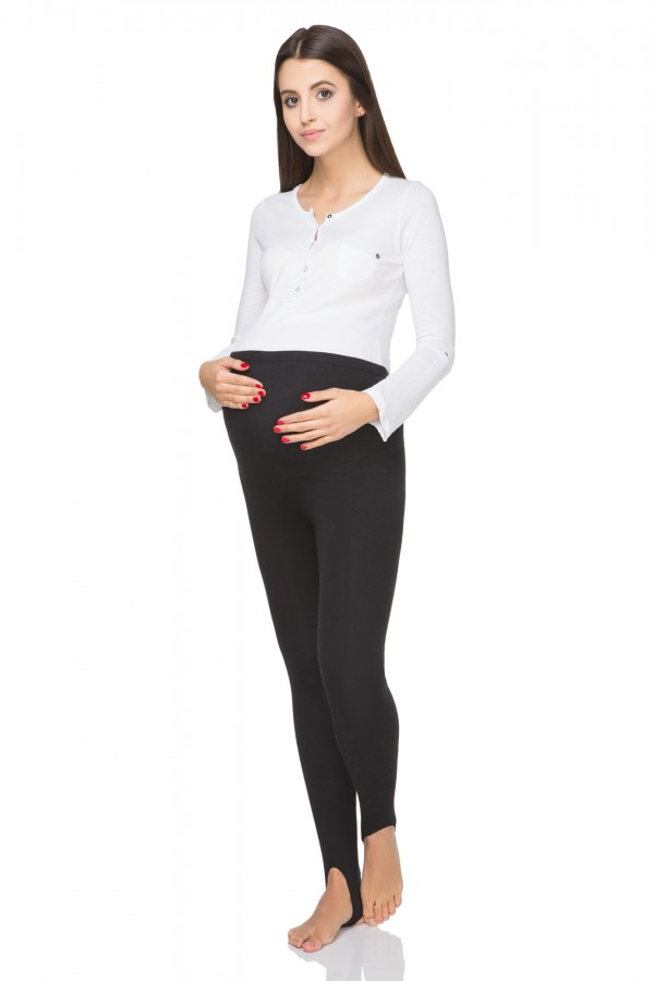 Warm maternity stirrup leggings