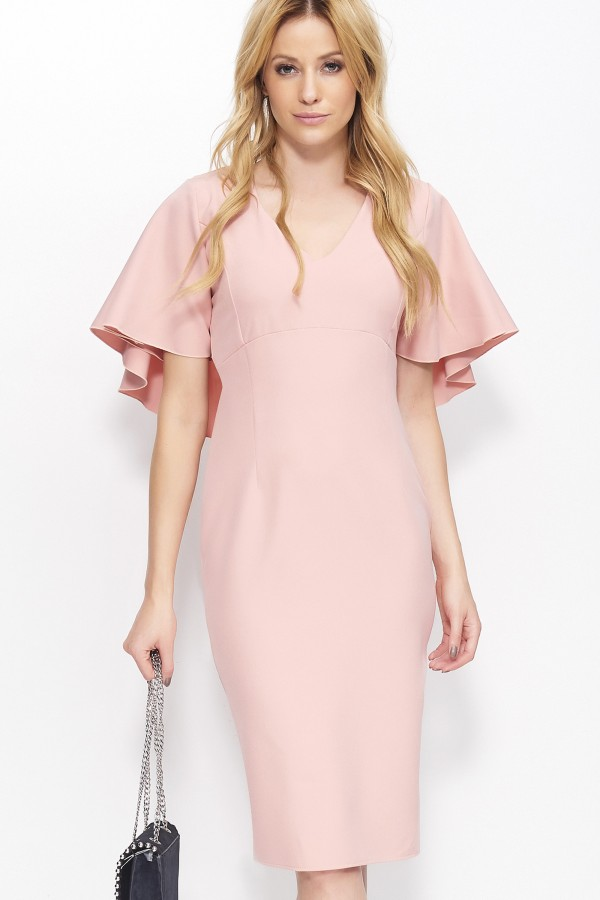Women's Elegant Pencil Dress with...