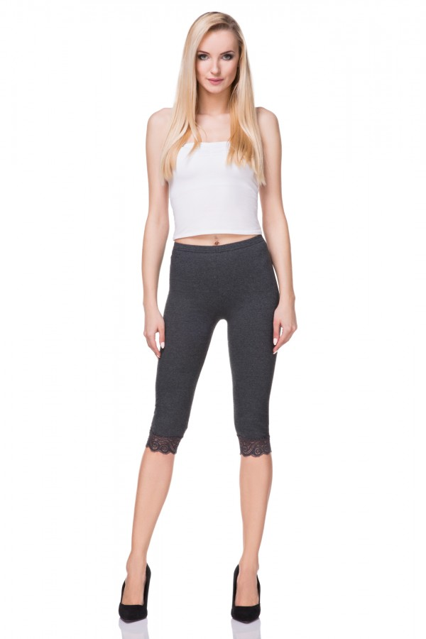 3/4 Leggings with lace
