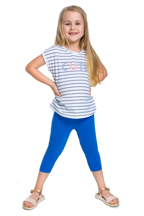 Girl's Capri Soft Cotton Leggings...