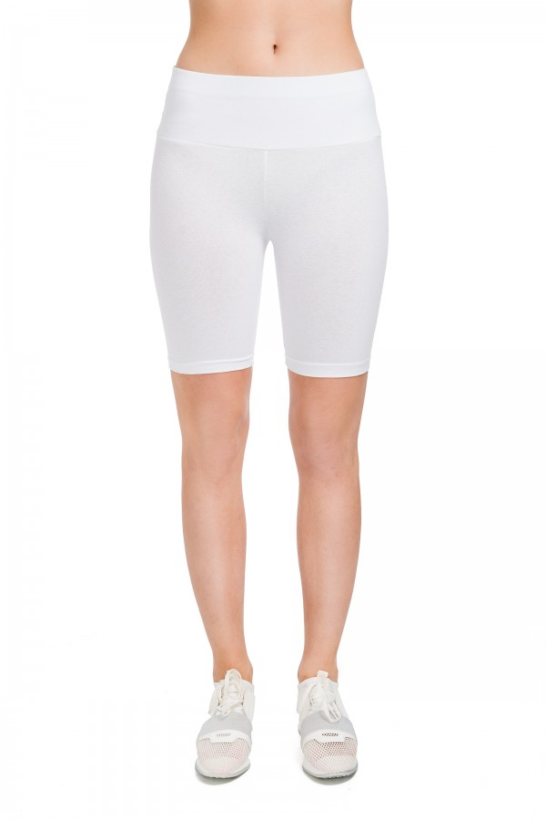 Cotton Leggings 1/2 Length Over-Knee...
