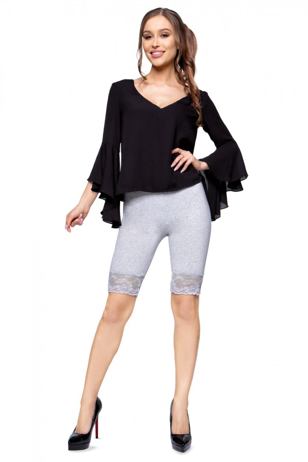 Cropped Leggings with Lace Cotton...