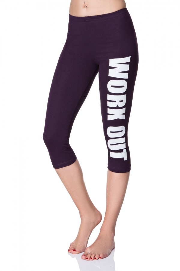 Women's 3/4 Work Out • Stretchy Leggings