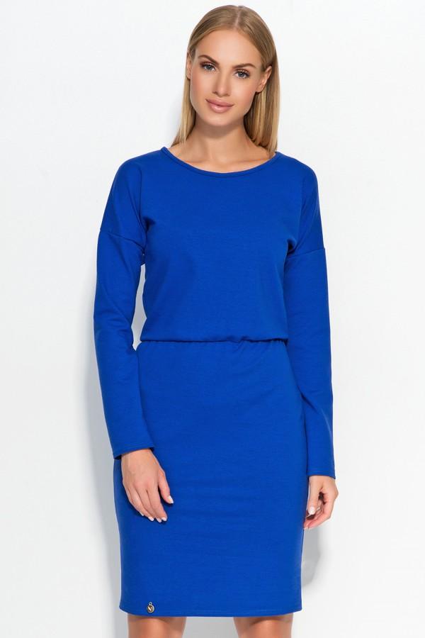 Long Sleeve Elastic Waist Midi Dress...