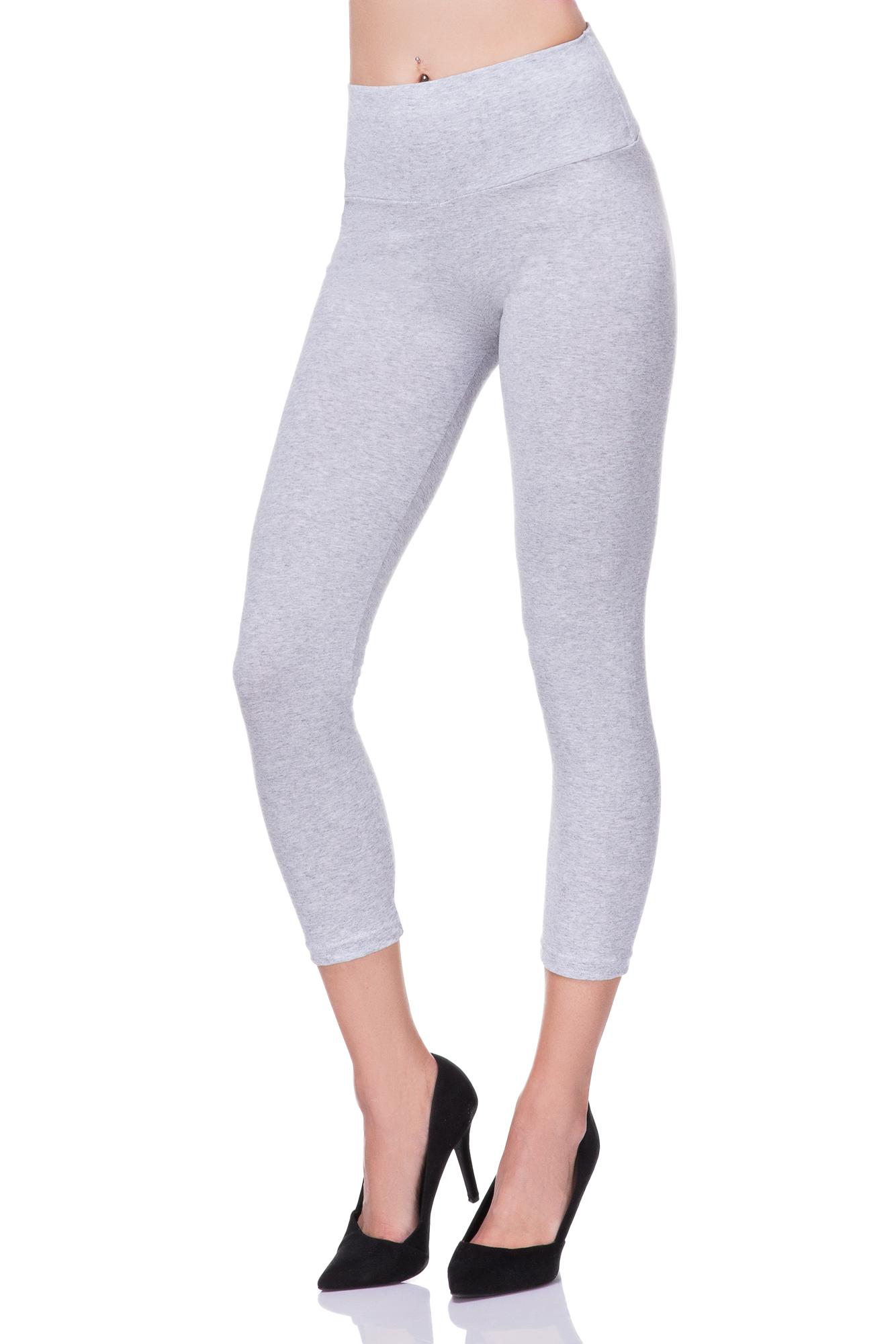 Women Capri Length Leggings Denim Imitation 3//4 Length Comfy Pants One Size FS07