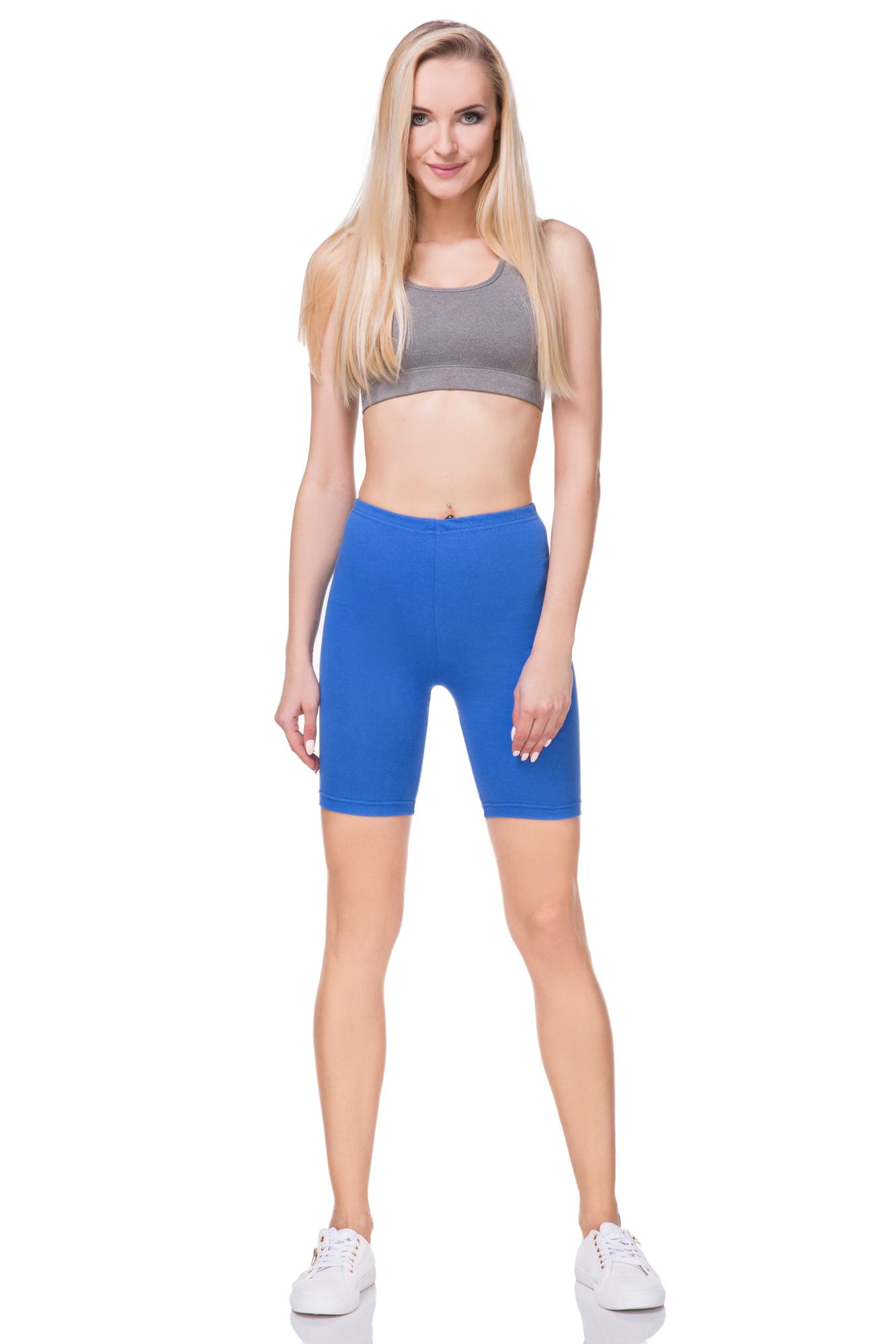 Knee Shorts Active Sport Dance Cycling PLKX Cotton Leggings 1//2 Length Above