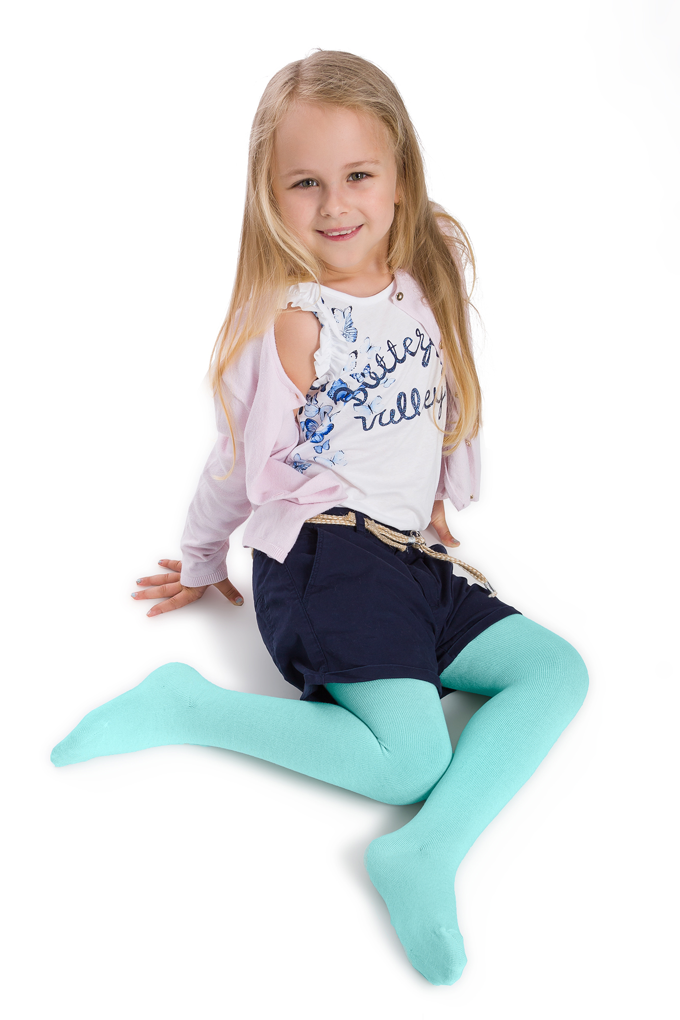 Girls Children Kids Patterned Colourful Cotton Tights Pants Size 2-4 Years