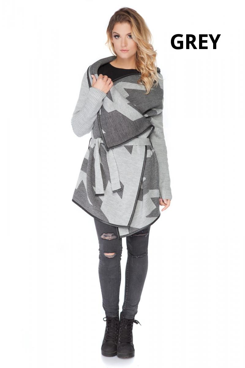 Women/'s Thick Heavy Cardigan Poncho Warm Coat Jacket Button Belt UK 10-16 FR15