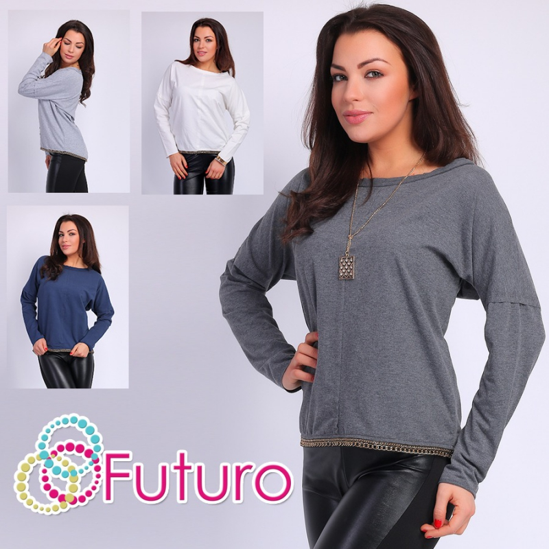 Ladies Asymmetric Top Long Sleeve Boat Neck Tunic Sweat Jumper Size 8-12 FT002