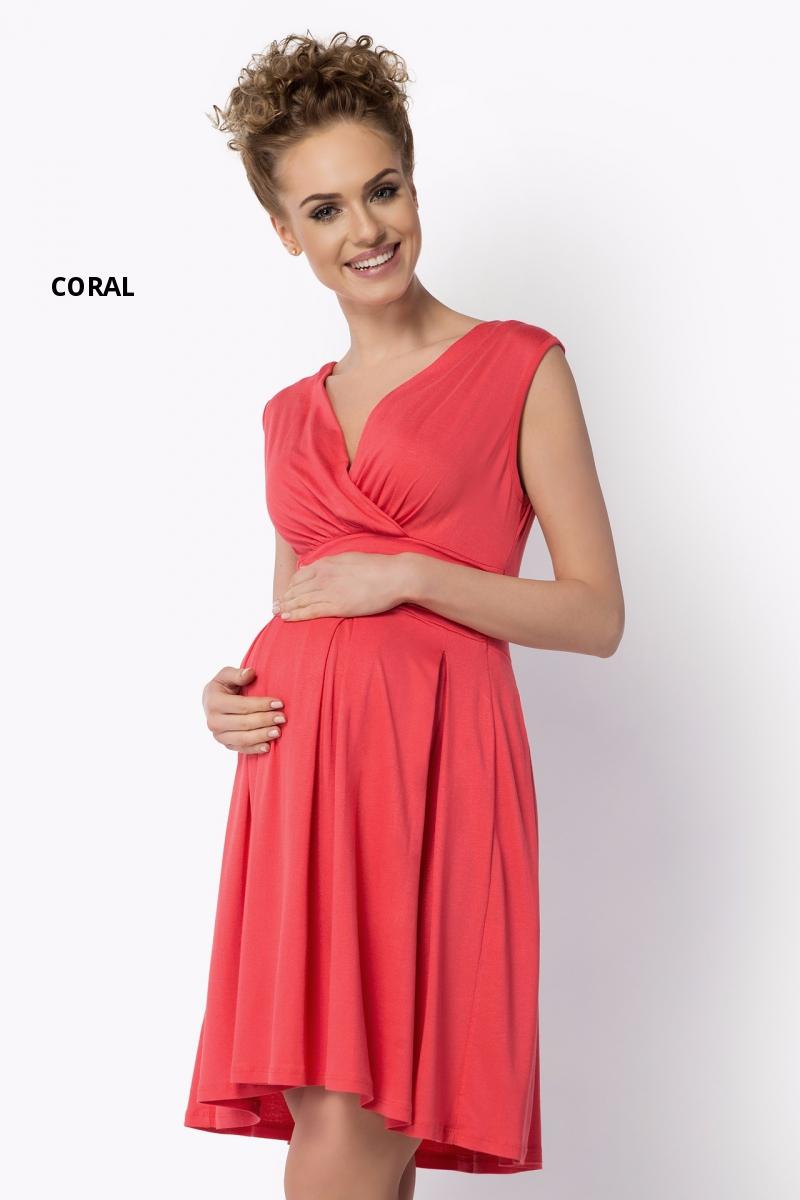 Ladies Maternity Summer Empire Dress Sleeveless Wrap Tunic Plus Sizes 8-18 FM26