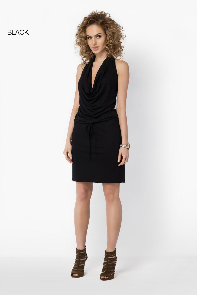 Womens Sleeveless Mini Dress Cowl Neck Backless Bodycon Plus Sizes 8-18 FM23