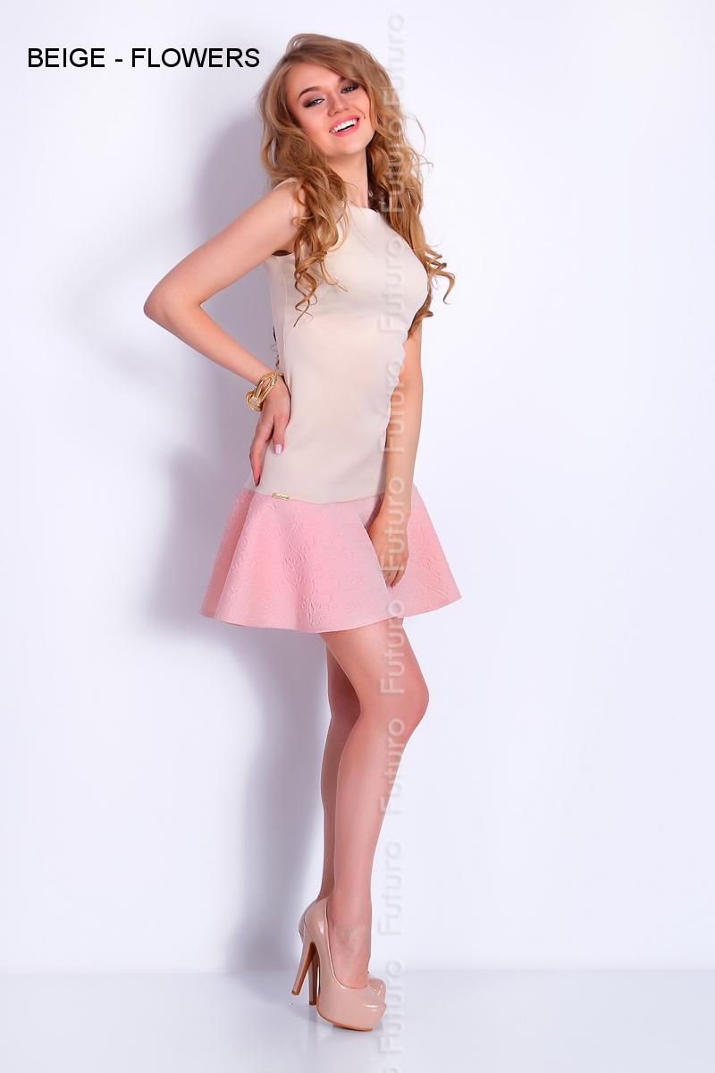 Hermosa Vestido De Fiesta Cuello Barco Embellecimiento - Colección ...